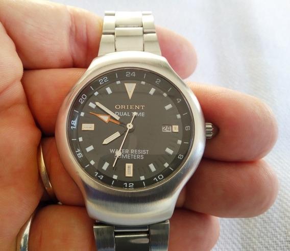 Relógio Original Orient Quartz Duo Time Raro Maravilhoso