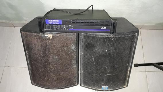 Potencia Amplificador Com Duas Caixas De Retorno