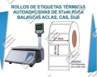 Etiquetas Termiscas Para Balanza Electrónica 57x40