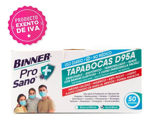 Imagen 1 de 2 de Caja De Tapabocas D95a Para Uso Diario No Médico  50 Unds