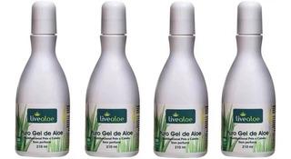 Live Aloe - Puro Gel De Aloe Vera - Kit Com 4 Unidades