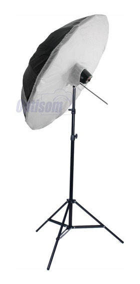Kit Flash Estúdio Greika K150 W White Bounce 100 Cm - 110v