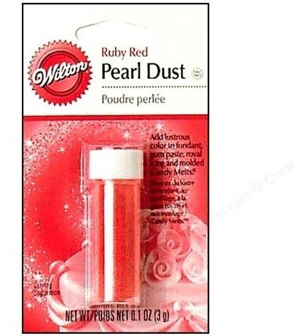 Polvo Rojo Perlado Para Decoración Wilton
