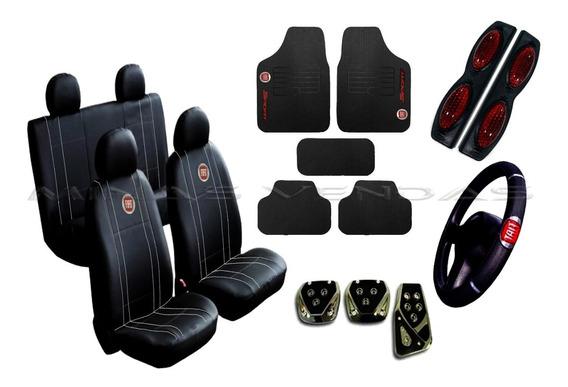 Kit Capa Banco Carro Couro Fiat Palio 96 97 98 99 2000