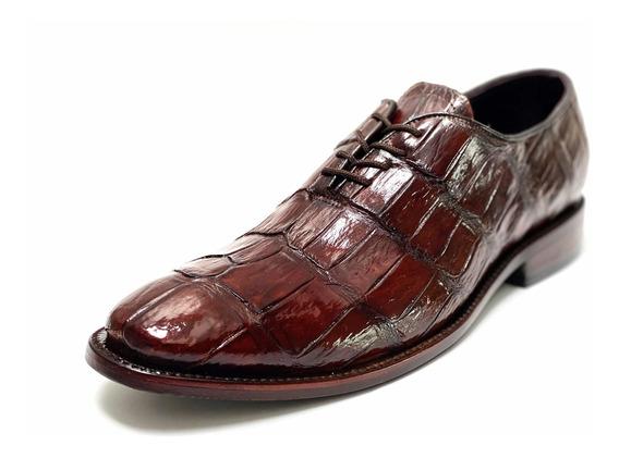Zapatos Piel De Cocodrilo Original, Horma Italiana