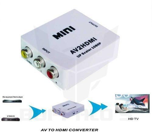 Convertidor De Rca Análogo A Hdmi Digital 1080p Audio Video