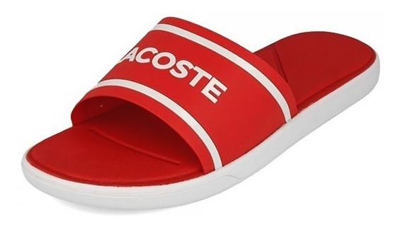 Ojota Lacoste Hombre L.30 Slide 118 2 Cam Rojo