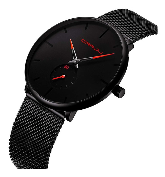 Reloj Caballero Cuarzo Crrju Ultra Delgado Casual Moda