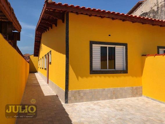 Casa Entrada R$ 44 Mil + Saldo Super Facilitado Use Seu Ftgs Casa Com 3 Dormitórios Na Primeira Quadra, A 300 Metros Da Praia 76,50 M² - Ca3444