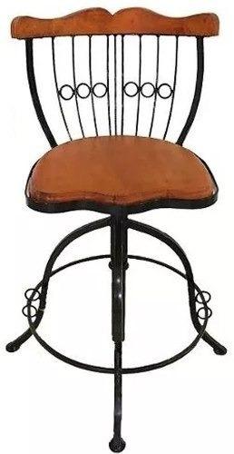 Cadeira Banco Banqueta Bistro Rustico Ferro Madeira Envio-ja