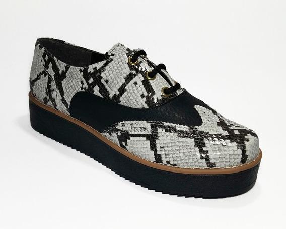 Mocasines Zapatos Acordonados Troef Reptil Cod. 241