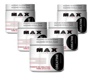5un Creatina Monohidratada 300gr Max Titanium = 1,5kg