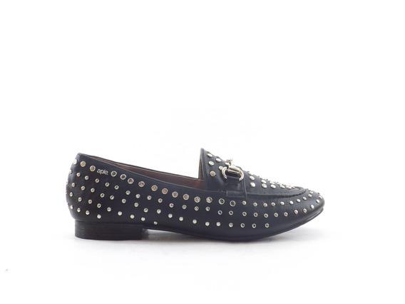 Zapato Mocasin Dama Mujer A Pie Kimmie Tachas Chatos Nuevo