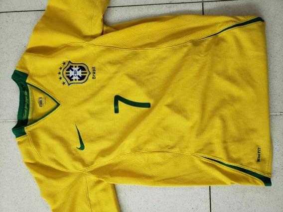 Camiseta Original Brasil Numero 7 Nike 2008 Hecha En Brasil
