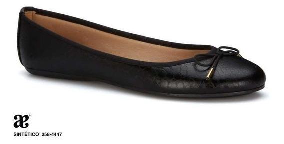 Flat Ballerina Andrea Color Negro Mod 258-4447