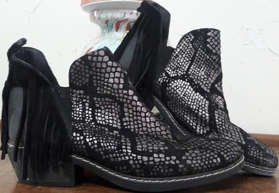 Zapatos Charro Charrito Texanos Texanas Flecos T 40