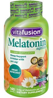 Vitafusion Melatonin Suplemento Regulacion Sueño 140 Gummie