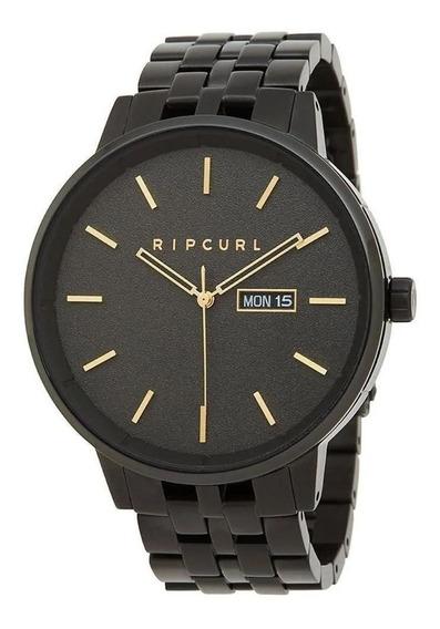 Relógio Rip Curl Detroit Midnight Preto Dourado Gold A3047