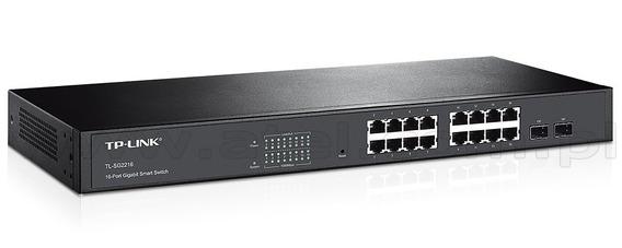 Switch Tp Link Tl-sg2216 10/100/1000 16 Gigabit 2 Sfp Combo