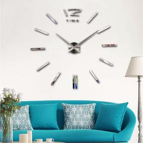Relógio Parede Decoração Grande 3d Decorativo Quartzo Metal