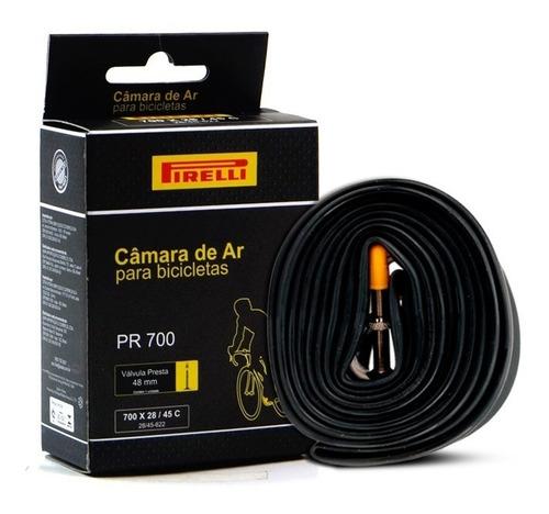 Câmara De Ar Pirelli Aro 700 X 28/45c Válvula Presta 48mm
