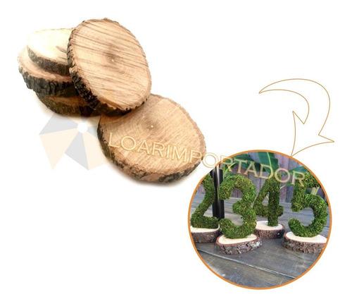 10 Rodajas De Madera Natural Ideal Souvenir Bosque Navidad