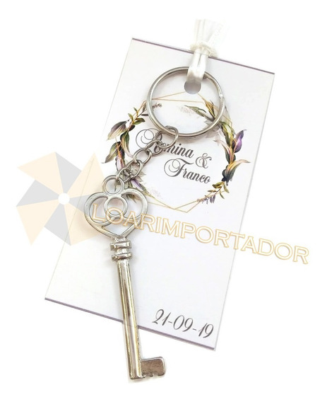 Llavero Corona Souvenir Tarjeta + Bolsa Cristal X75