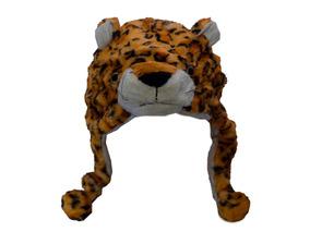 Touca Gorro De Bichinhos De Pelúcia Tigre