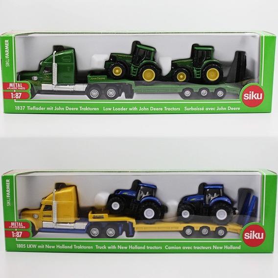 Siku 1/87 Caminhão De Trasporte + Tratores- New Holland