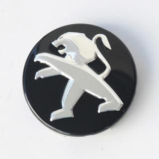 Juego de 4 emblemas Peugeot de 60 mm para llantas