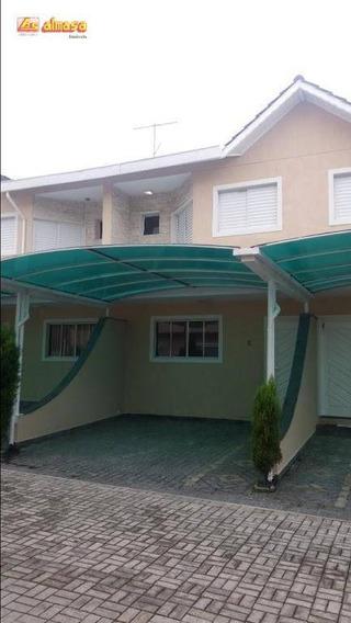 Sobrado Condomínio Fechado Com 3 Dormitórios Para Alugar, 90 M² Por R$ 2.200/mês - Jardim Vila Galvão - Guarulhos/sp - So0177