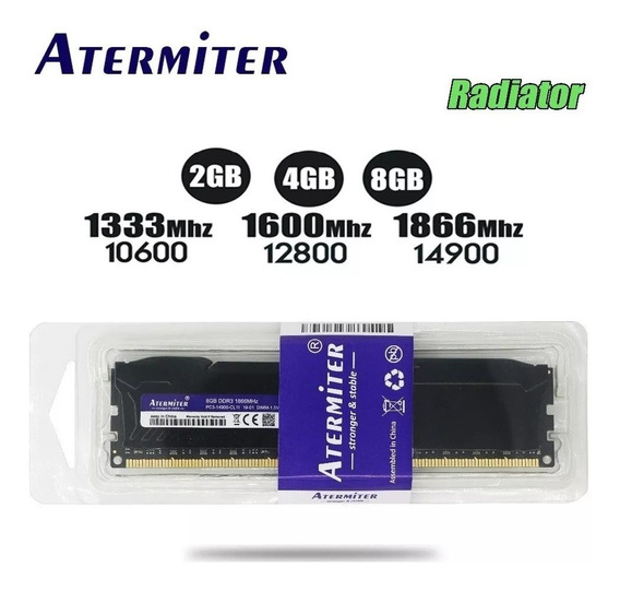 Memória Gamer Atermiter Ddr3 8gb/1600mhz Pc3-12800 P/ Intel