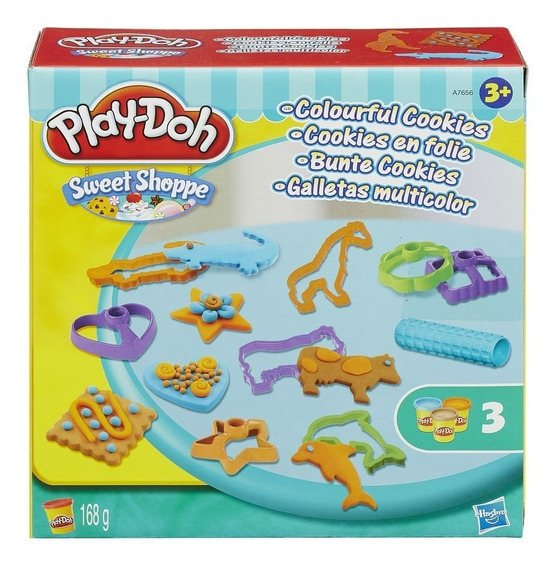Conjunto De Massinha Play-doh Cookies Coloridos Hasbro Promo