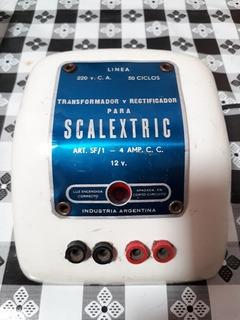 Transformador 12 V. Scalextric Original De Colección