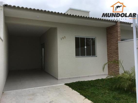 Casa Com 2 Dormitórios À Venda, 57 M² Por R$ 199.000,00 - Iguaçu - Araucária/pr - Ca1443