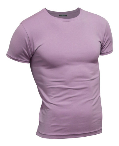 Imagen 1 de 4 de Remera Premium Hombre ALG. Elastizada Entallada / Slim Fit