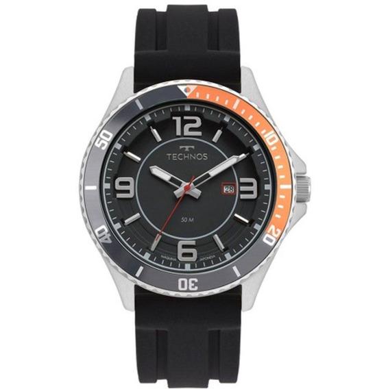 Relógio Technos Masculino Ref: 2115msj/8p Racer Prata Barato