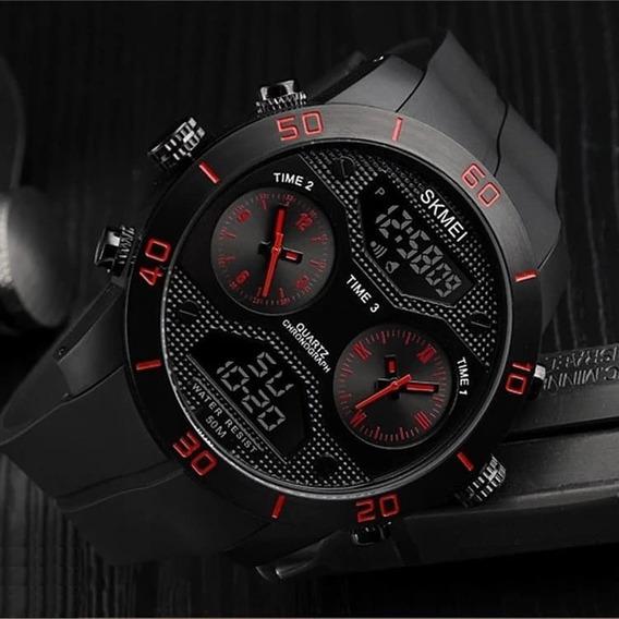 Relógio Masculino Grande Elegante Skmei 1355 Original