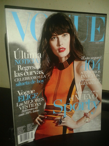 Revista Vogue Latinoamerica Abril 2015 Coleccion Diseño Moda