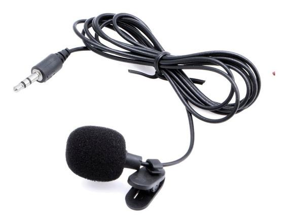 Microfone De Lapela Celular Youtuber Stereo + Adaptador