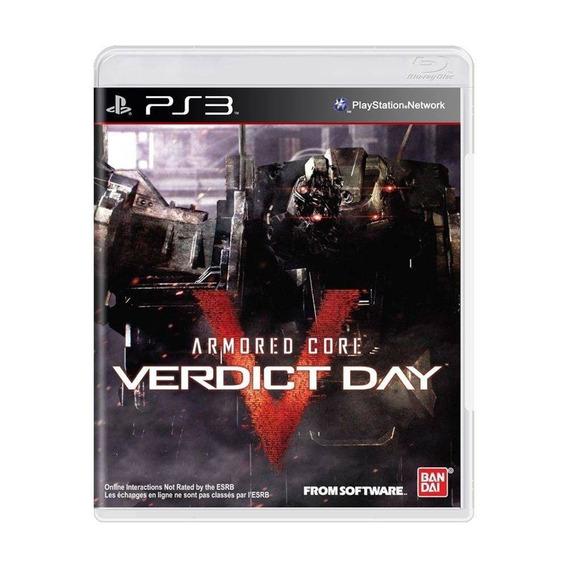 Armored Core: Verdict Day - Ps3 Novo Lacrado