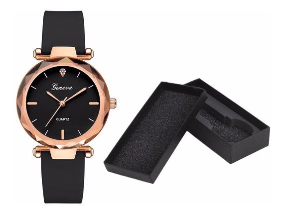 Relógio Feminino De Luxo Mulher Elegante
