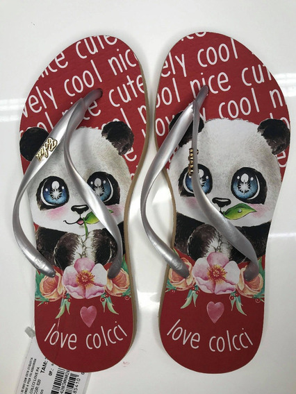 Chinelo Colcci Panda Love Original E Novo