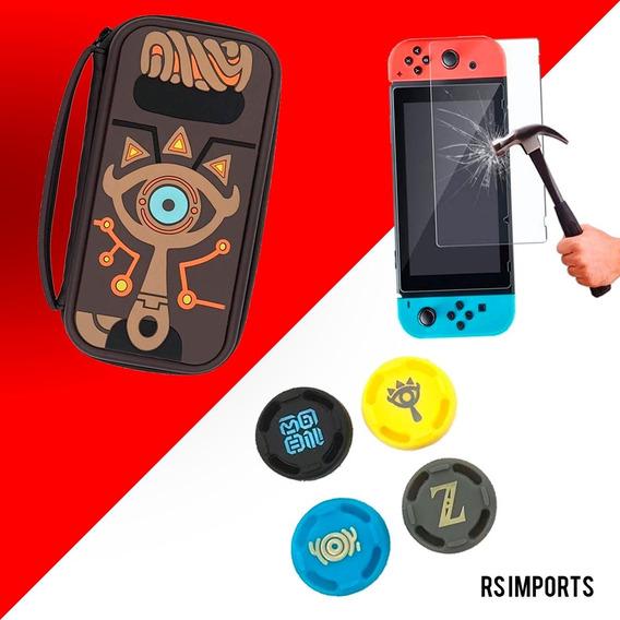 Case Capa Estojo Nintendo Switch Zelda +pelicula Vidro+4grip