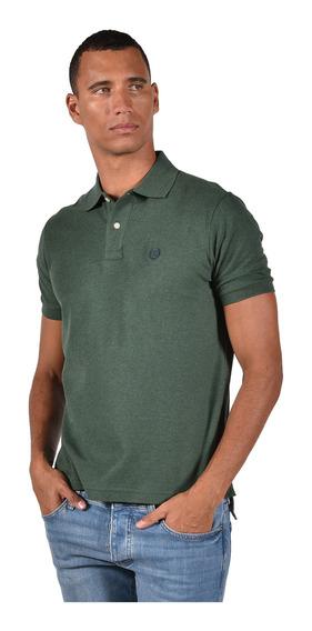 Polo Classic Fit Chaps Verde 750720402-34p0 Hombre