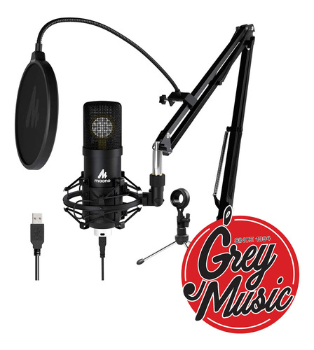 Kit Microfono Maono Au-a425 Usb Mic Con Soporte Para Estudio