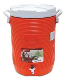 Garrafa Térmica Torneira 19 Litros Cooler Rb081 Rubbermaid