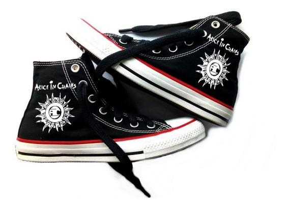 Tênis Alice Chains Converse All Star Botinha Unissex Rock