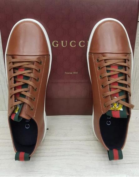 Tenis Gucci Caramelo Marrom Masculino Sapatenis Oferta 2019