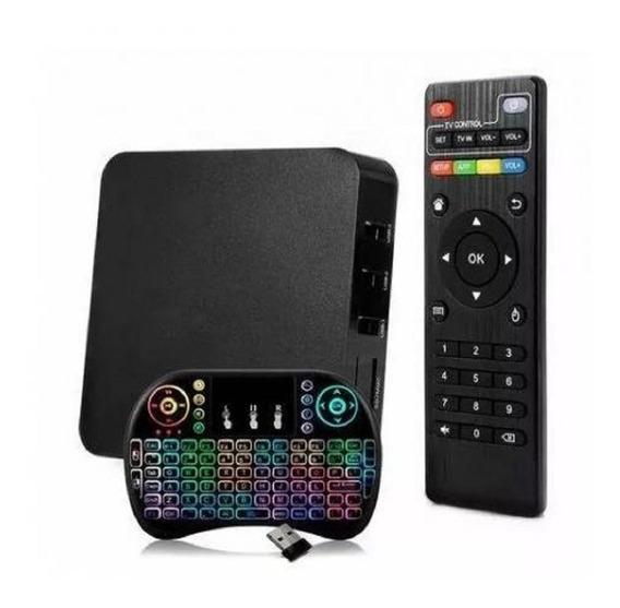 Aparelho Transforma Tv Smart 4k 3gb Ram 16gb + Teclado Led
